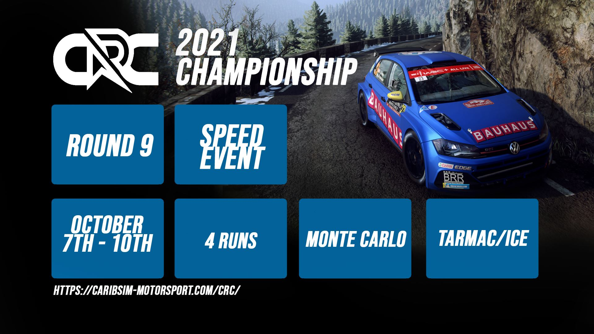 CRC Rally Championship – Round 9 – Monte Carlo Speed Event – Results